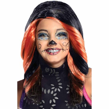 Monster High Skelita Calaveras Wig Child Halloween Costume Accessory](Ways To Paint Face For Halloween)