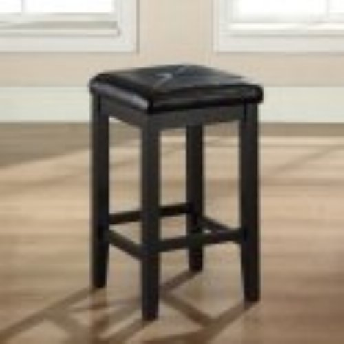 Crosley Upholstered Square Seat Backless Counter Stool