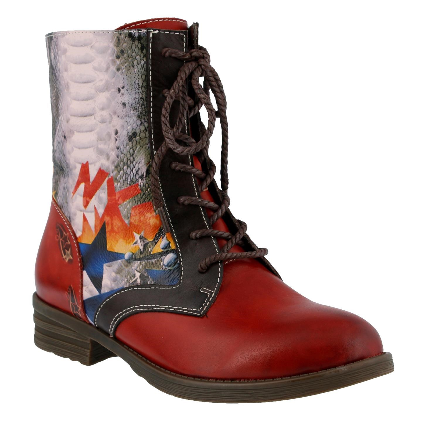 L'Artiste Comical By Spring Step Red Leather Boots 35 EU   5 US Women by Spring Step