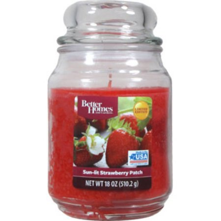 Better Homes & Gardens Sunlit Strawberry Patch Single-Wick 18 oz. Jar (15 Oz Scented Candle)