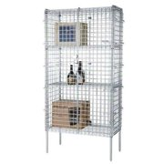 Focus Foodservice Chromate stationary security cage 4 shelves