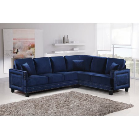 Peachy Meridian Furniture Inc Ferrara 2 Piece Sectional Sofa With Pillows Machost Co Dining Chair Design Ideas Machostcouk