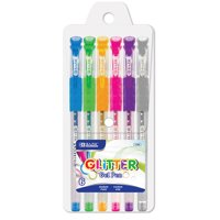 BAZIC 6 Glitter Color Gel Pen w/ Cushion Grip
