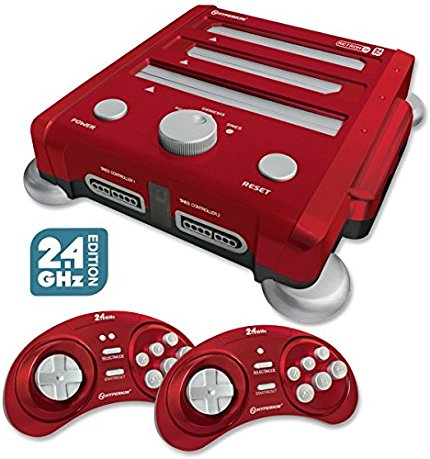 Retron 3 Video Game System for NES/SNES/GENESIS - Red, Tw...
