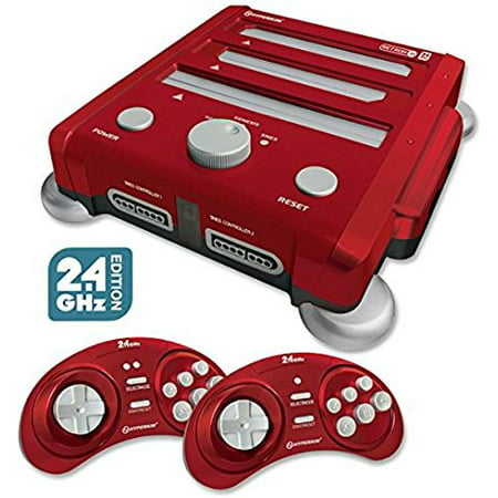Retron 3 Video Game System for NES/SNES/GENESIS - Red, Two original control ports for each gaming platform By (Best Arcade Platform Games)