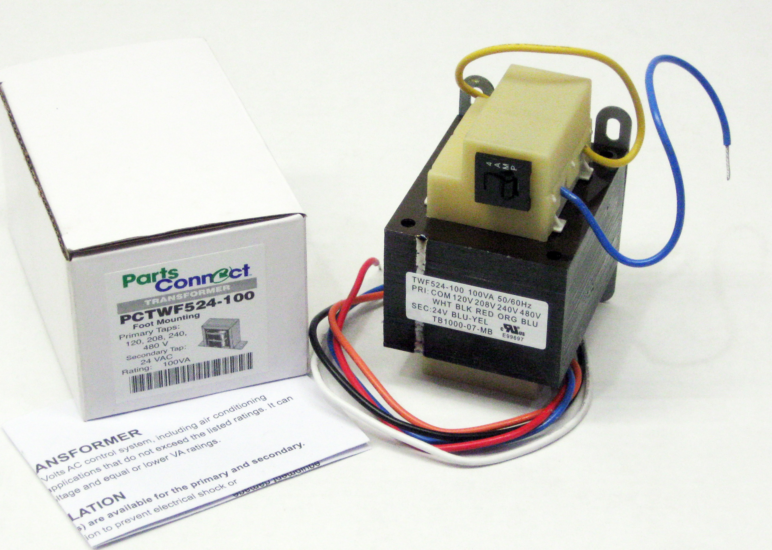 100va Transformer Primary 120v 208v 240v 480v Volt 24v Secondary To Wiring Diagram Hvac Furnace Multi Tap