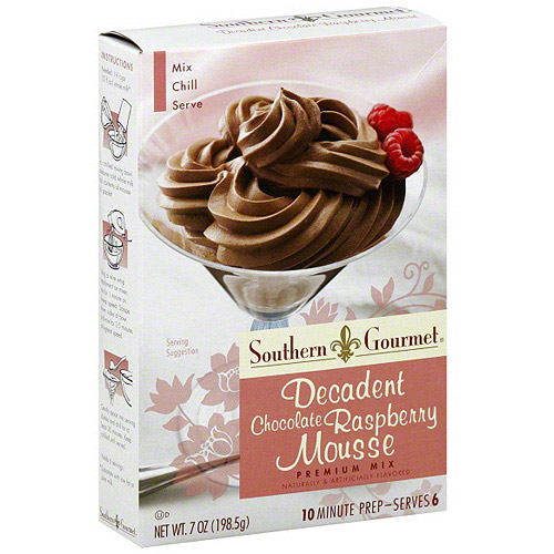 Southern Gourmet Decadent Chocolate Raspberry Mousse Mix, 7 oz (Pack of 6)
