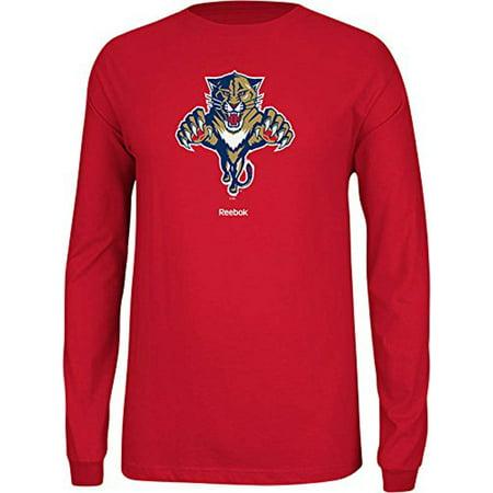 size 40 a4920 e03e0 Reebok NHL Men's Florida Panthers Jersey Crest Long Sleeve Tee