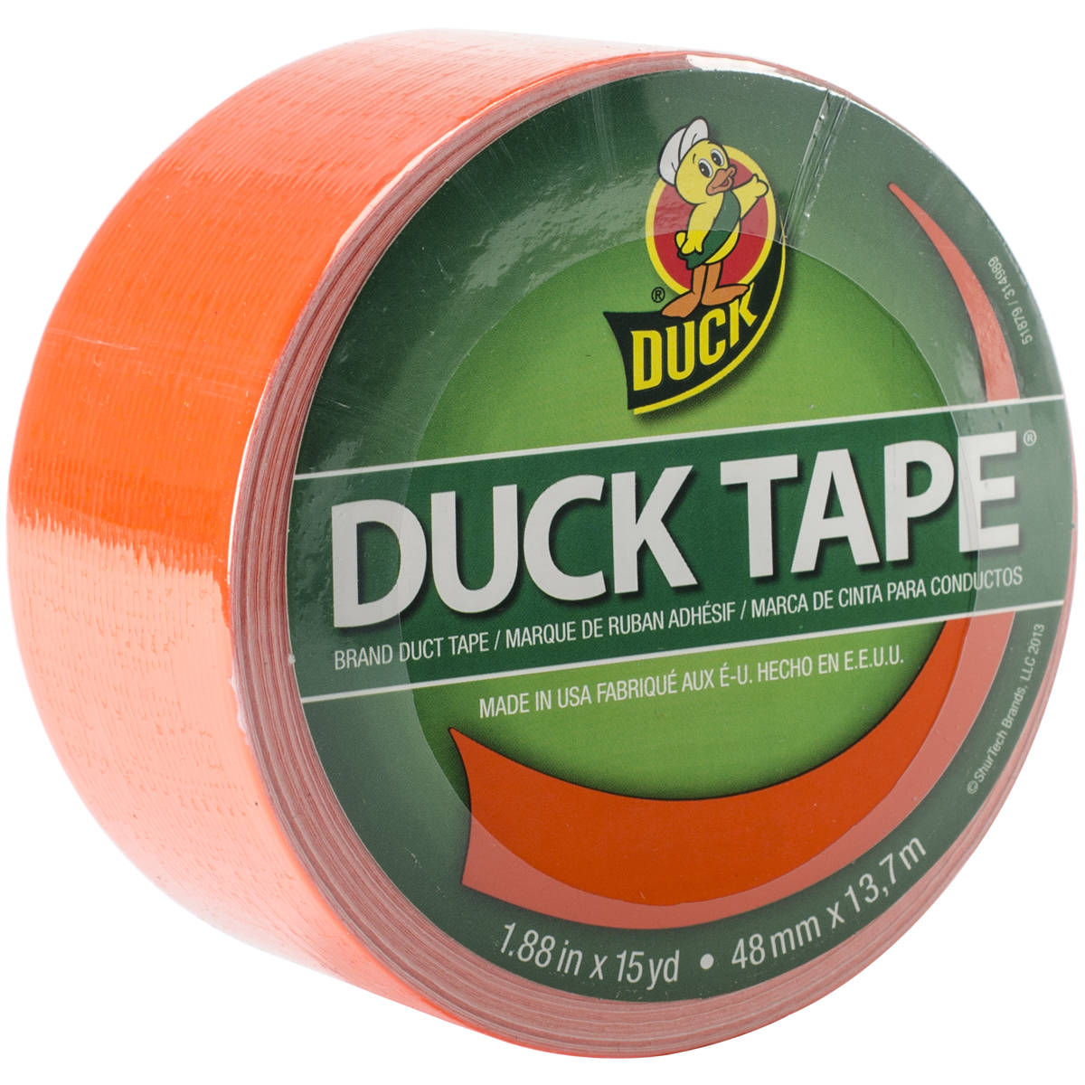 "Duck Tape Solid Color Duck Tape, 1.88"" x 15 yds., Neon Blaze Orange"
