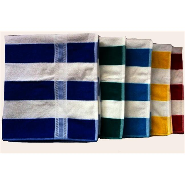 Bulk Buys Cabana Stripe Beach Towel - Pack of 6