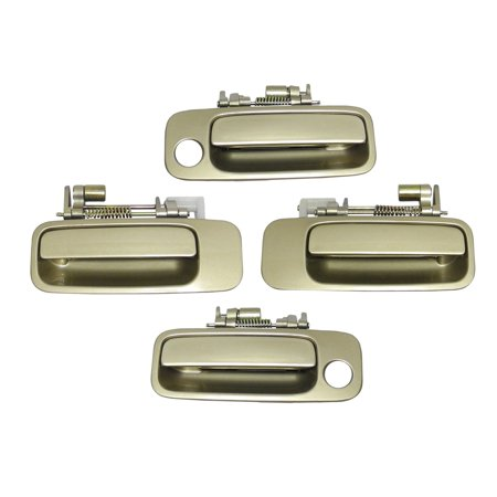 Brand NEW For Front and Rear 1997-2001 Toyota Camry Cashmere Beige Metallic 4M9 Outside Door Handle 4PCS 97 98 99 00 (01 Toyota Camry Door Handle)