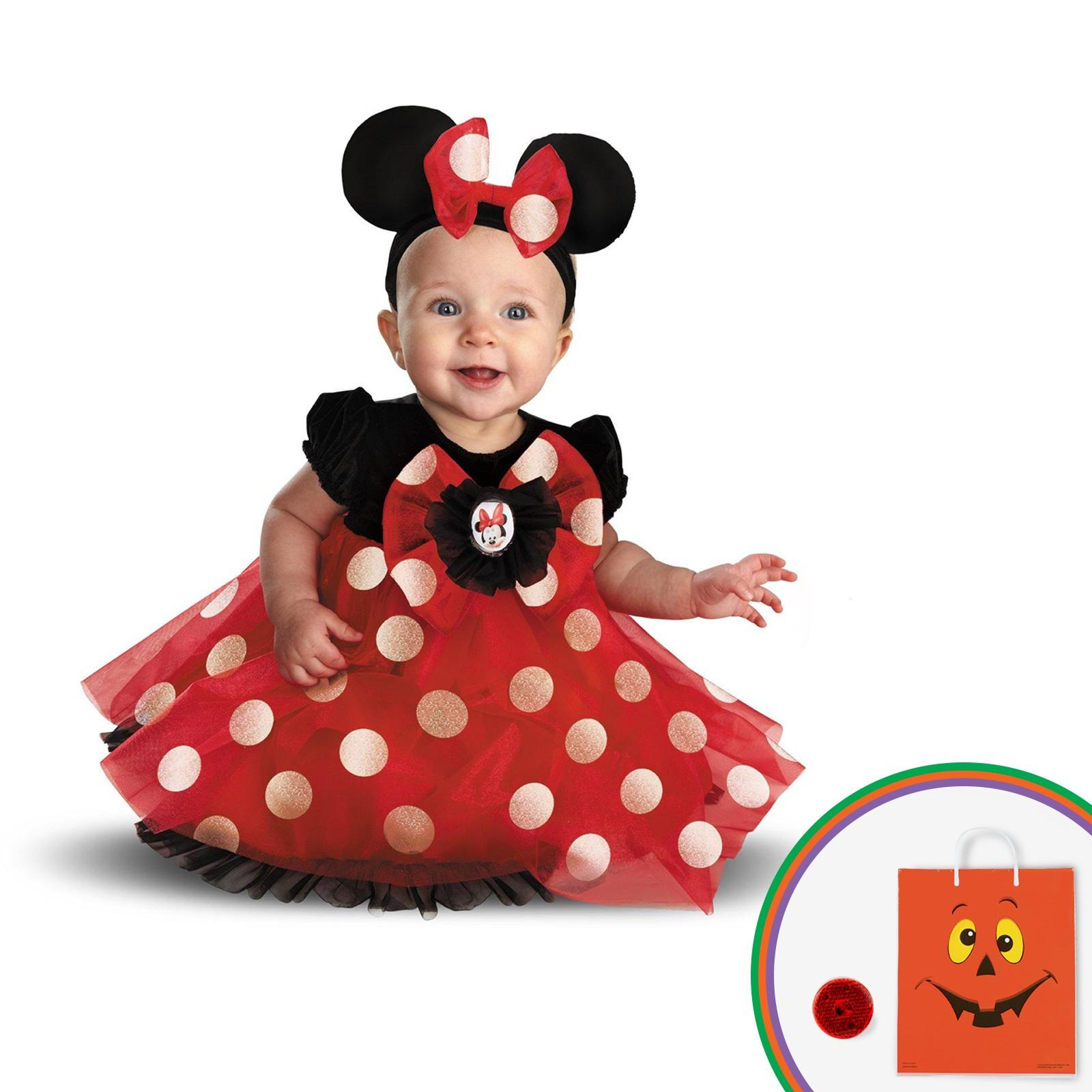 Red Minnie Child Costume Kit with Free Gift