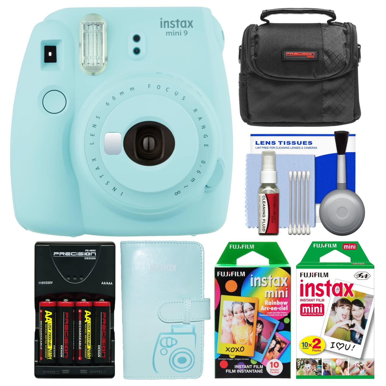 FujiFilm Instax Mini 9 Instant Film Camera (Ice Blue) with Photo Album + 20 Twin & 10 Rainbow Prints + Case + Batteries... by Fujifilm