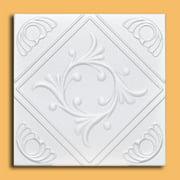 White Styrofoam Decorative Ceiling Tile Anet (Case of 40 Tiles) - same as Diamond Wreath and R02