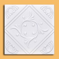 White Styrofoam Ceiling Tile Anet (Package of 8 Tiles) - same as Diamond Wreath and R02