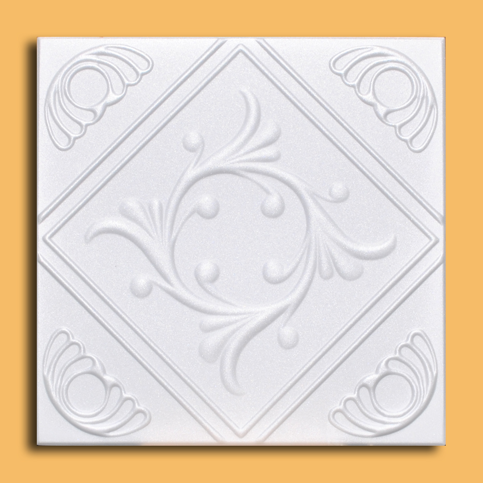 White Styrofoam Ceiling Tile Anet (Case of 40 Tiles) - same as Diamond Wreath and R02