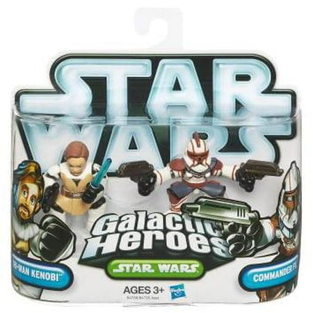 Star Wars Galactic Heroes Figure 2 Pack Obi-Wan Kenobi & Commander