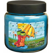 LANG Spring Rain 16-Ounce Jar Candle, Scented with Rainforest, Fresh Linen, Sweet Pea and Vanilla