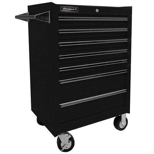 Homak BK04072601 27 in. 7 Drawer Rolling Cabinet (Black)