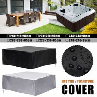 Mutil-Sizes Black Polyethylene Square Waterproof Hot Tub Spa Cover Durable Protector Guard Dust Cap Dust-Proof Thermal Insulation Cover