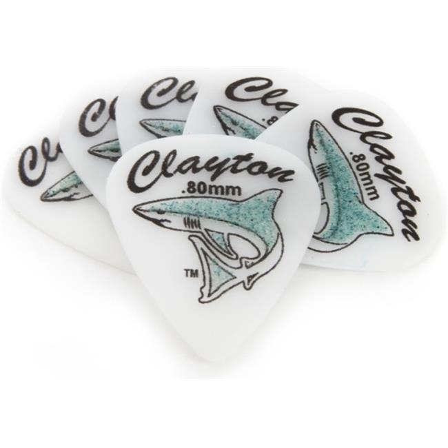 Clayton SH80-6 Sand Shark Standard Guitar Picks, 0. 80 mm - 6 Pieces