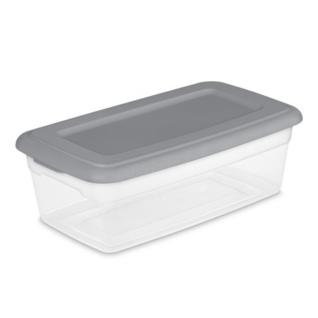 Sterilite 6 Qt Storage Box, Titanium - (Available in Case of 40 or Case of 10)