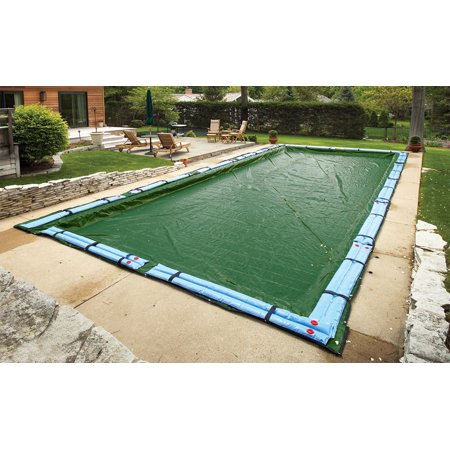 Blue Wave Silver 12-Year 16-ft x 36-ft Rectangular In Ground Pool Winter Cover
