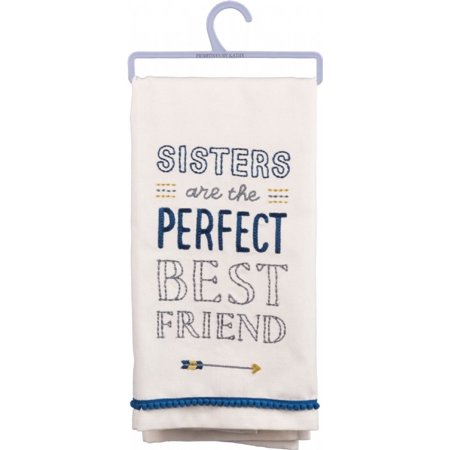 Dish Towel: 'Sisters Are the Perfect Best Friend >>----->' 100%