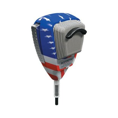 Astatic 4-Pin Stars N Stripes Noise Canceling Radio Microphone Multi-Colored - Rock Star Microphone
