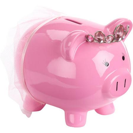 Pink Princess Piggy Bank