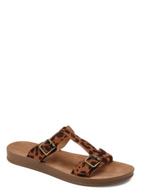 24da70c7afc Womens Double Buckle Flat Sandal