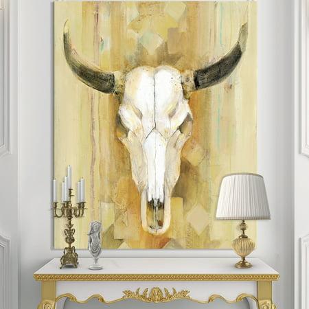 DESIGN ART Designart 'His southwest bones' Gold Wildlife Canvas Art - Brown 15 Mm Southwest Design