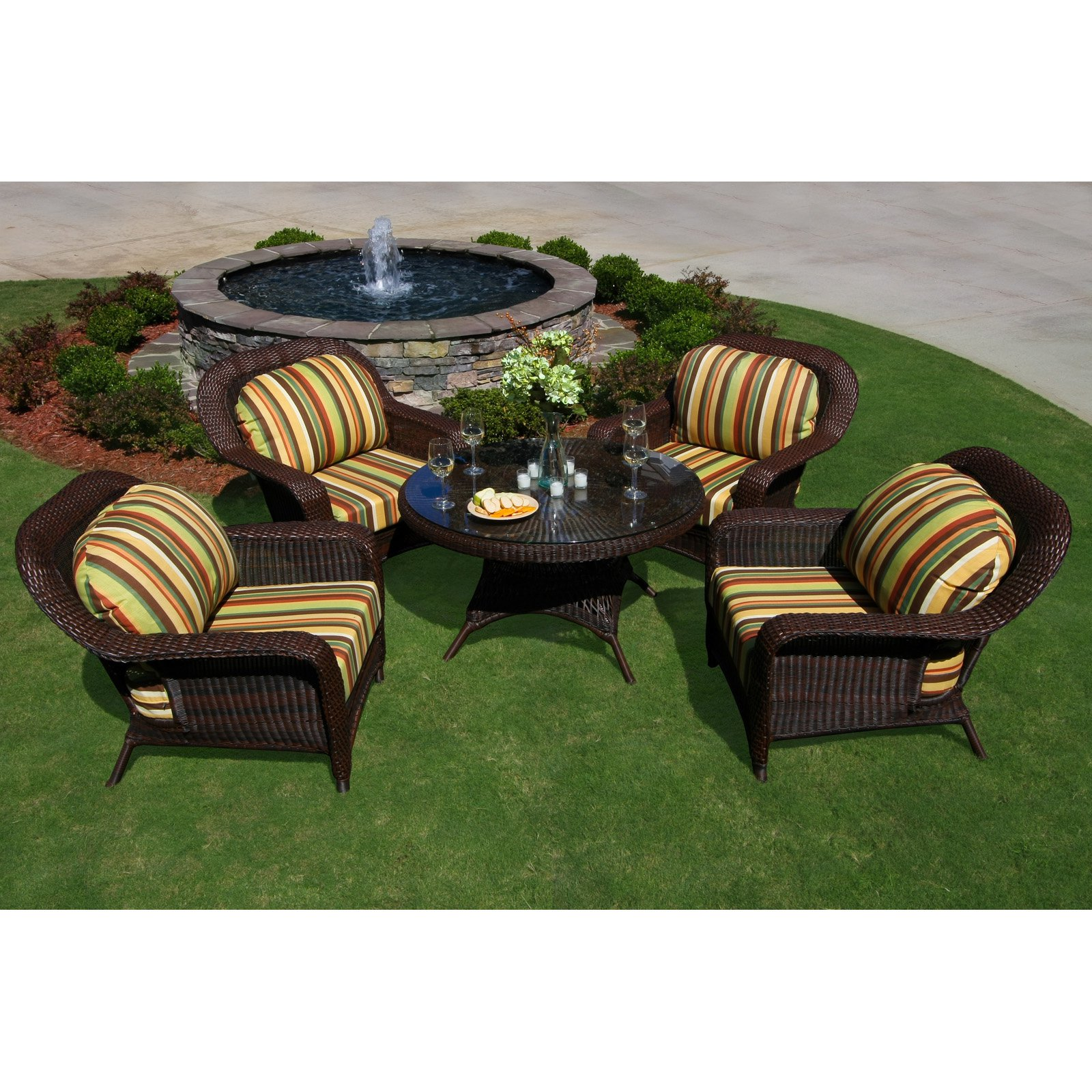 Tortuga Lexington 5 Piece Conversation Set