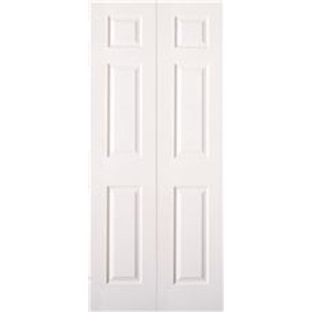MASONITE® BI-FOLD 6-PANEL DOOR, PRIMED WHITE, 24X80 IN. Mahogany Exterior Doors