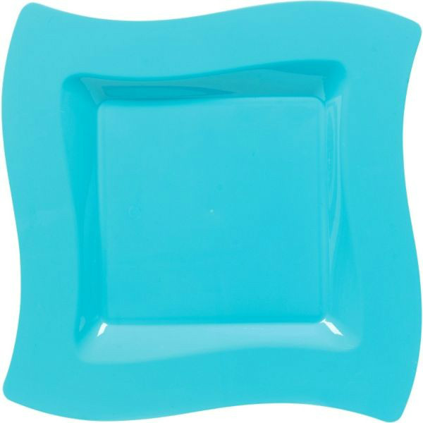 Blue Caribbean Small Premium Heavy Duty Plastic Plates (10ct)