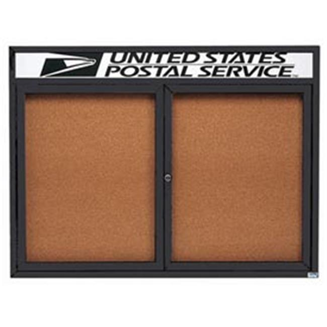 Aarco Products Enclosed Aluminum Bulletin Board with Heater