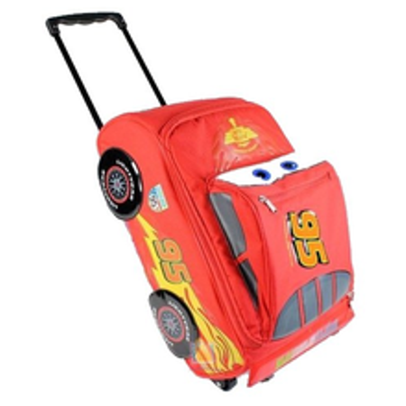 Disney's Cars Large 17 Inch Rolling Carry-on Luggage Bag - Lightning McQueen