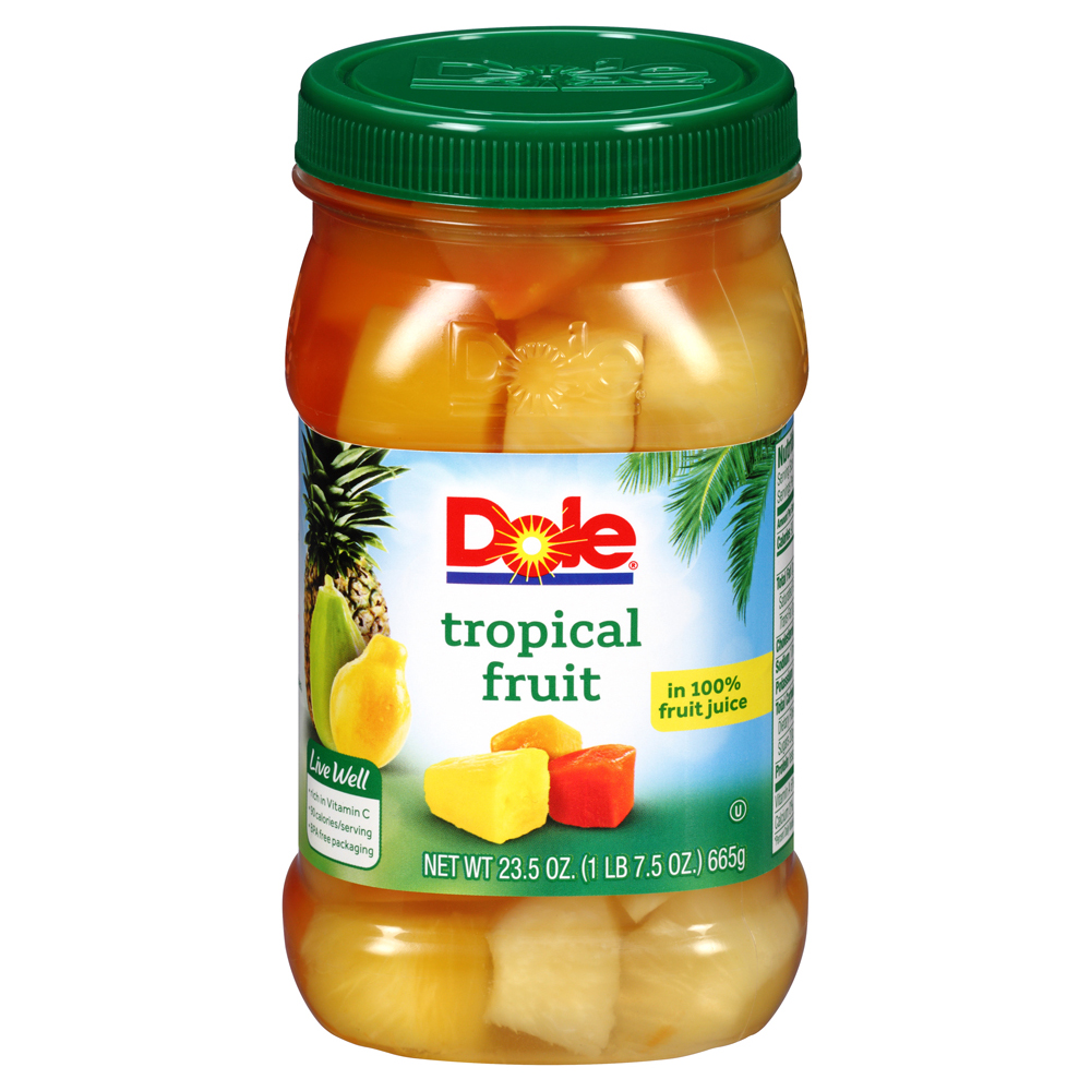 Dole Tropical Fruit in 100% Fruit Juice, 23.5 oz