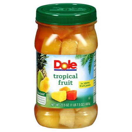 Dole Tropical Fruit in 100% Fruit Juice, 23.5 oz - Walmart.com