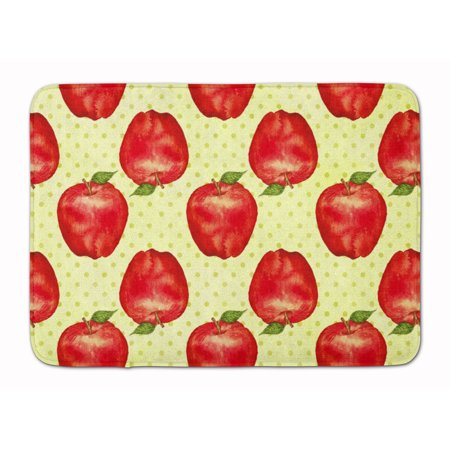Watercolor Apples and Polkadots Machine Washable Memory Foam Mat - Foam Apples