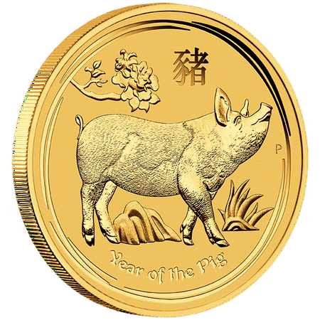 2019 Perth Mint Lunar Year of the Pig Gold Coin 1/4