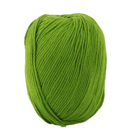 Diy Scary Indoor Halloween Decorations (Indoor Women Scarf DIY Handicraft Crochet Knitting Weaving Yarn Lawn Green)