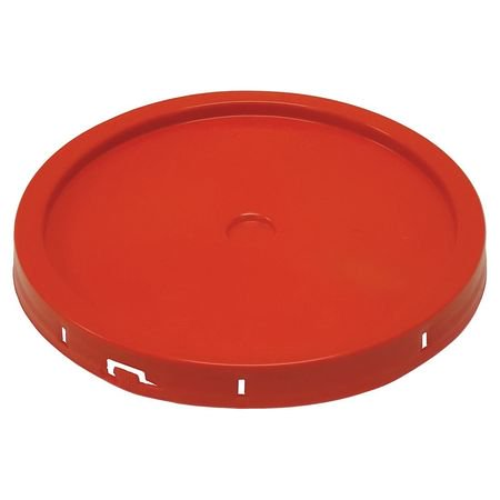 Plastic Pail Lid,Tear Tab,Red,For 34A256 - Red Pail
