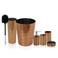 SereneLife SLBATAC05 - Bathroom & Sink Accessory Set, 6 pcs