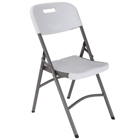 Steel Wide Chair (4 x Palm Springs Commercial Heavy Duty Molded Plastic Steel Frame Folding Chairs )