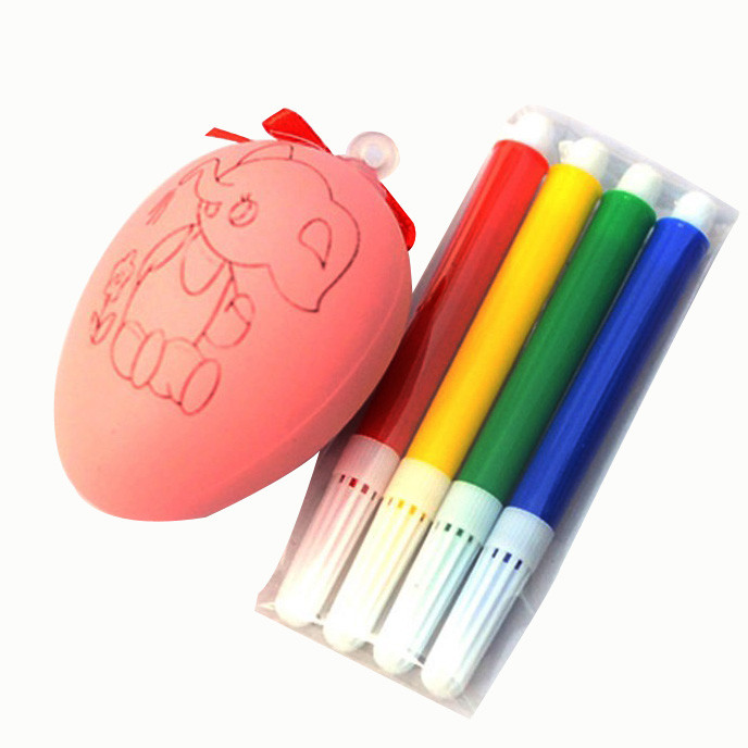 Mosunx Water Color Pen & Egg Kids DIY Painting Color Egg Toy Easter Egg Education Toys