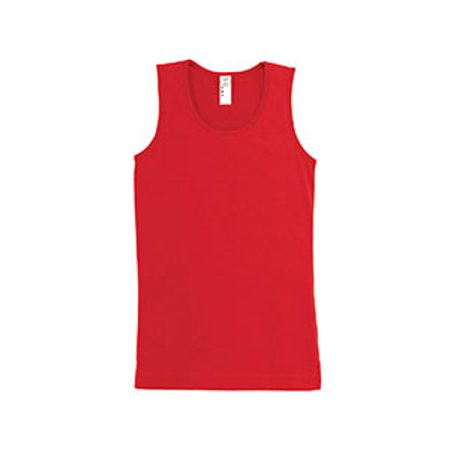 LAT Girls' Fine Jersey Tank - Red Girls Tank Top