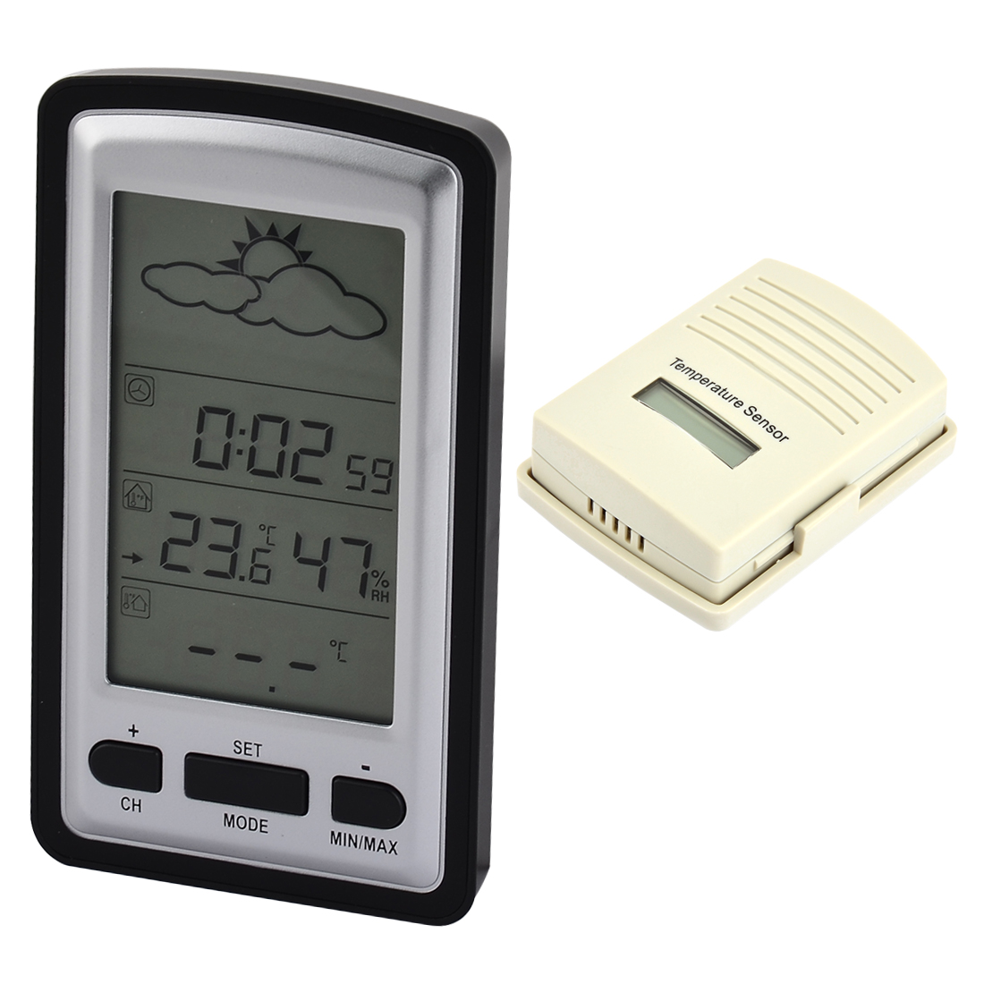 Indoor Outdoor Temperature Wireless Weather Forecast Digital Thermometer