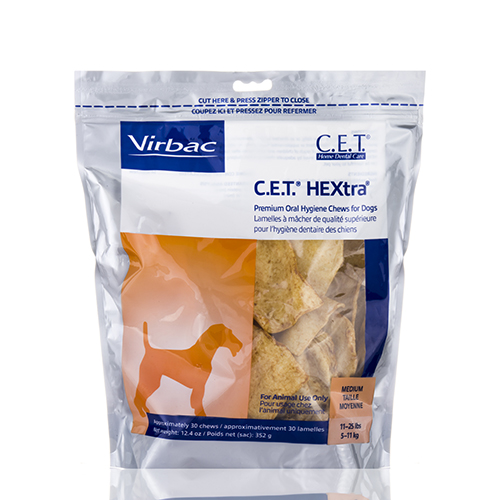 C.E.T.��� Hextra��� Premium Oral Hygiene For Dogs, Medium (11-25 lbs) - 30 Chews by