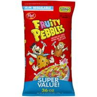 Post, Fruity Pebbles Breakfast Cereal, Gluten Free, 36 Oz Bag
